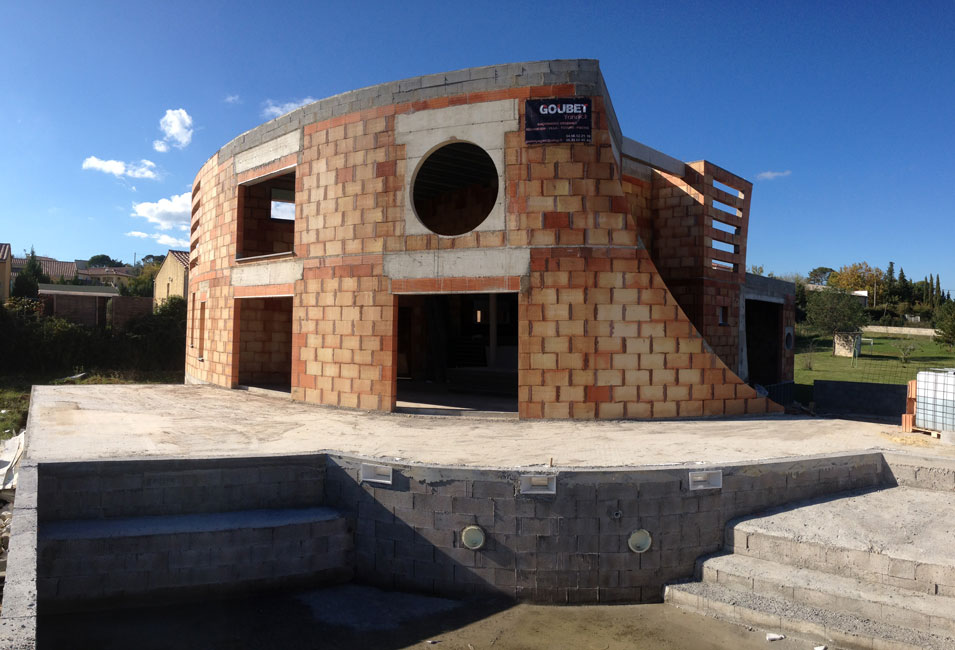 Alès Gard Consruction d'une villa contemporaine avec piscine