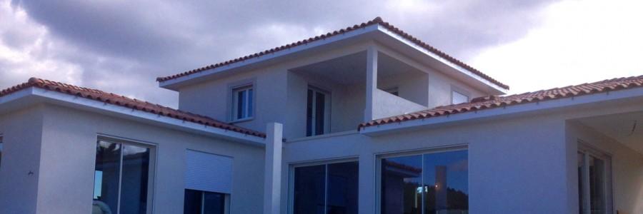Construction villa contemporaine à Uzès Gard