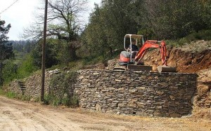 mur de soutenement pierre sèche